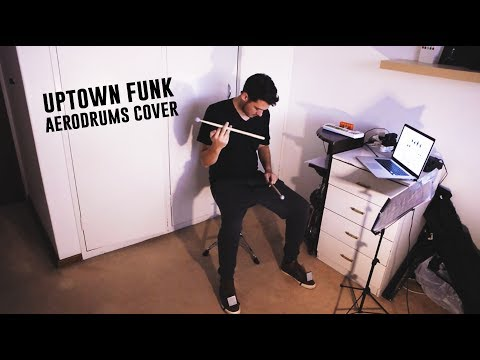 Uptown Funk - Aerodrums Cover - Quick Review in Caption