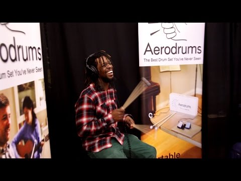 Drummers Trying Aerodrums at the NAMM Show (ad JLVST)