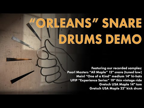 """Aerodrums Sound Samples - Featuring the """"Orleans"""" Snare"""
