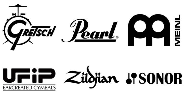 Logos for non electronic drums brands we have sampled